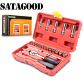 SATAGOOD kit de herramientas 25 artículos herramientas conjunto de herramientas de mano herramienta de reparación automática herramienta de mano kit de herramientas de coche kit de cabezal de herramientas para automóvil conjunto de herramientas para
