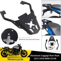 Motorcycle Aluminum Top Luggage Rack Rear Carrier Fender Support Mount for 2017 2018 BMW G310R G 310R Accessories Motor Parts