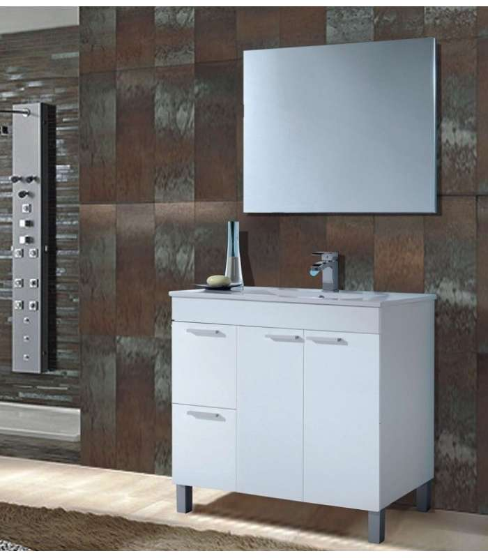 Cabinet 80cm Width Aktiva With Basin + Mirror
