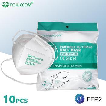 POWECOM CE FFP2 Headband Face Mask Filter Masks Protective Mask Reusable Anti-fog Dustproof Face Mouth Masks Adult cubrebocas