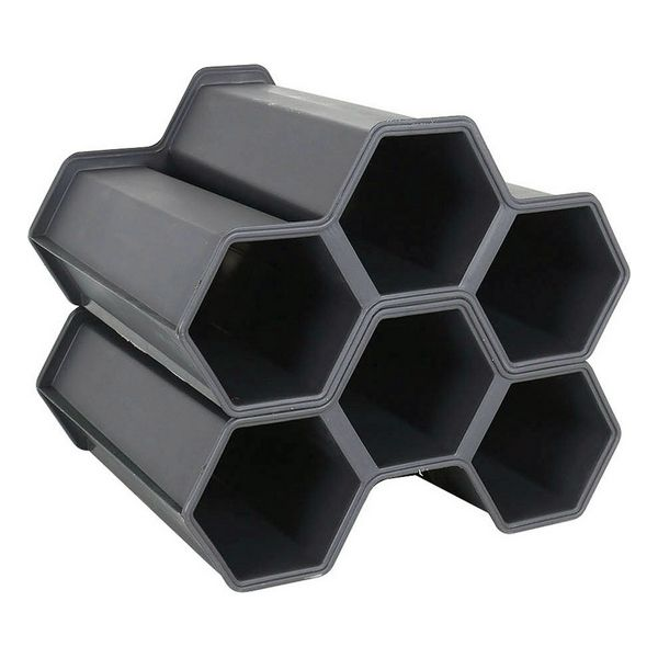 Bottle Rack Black (2 Pcs) (6 Bottles)