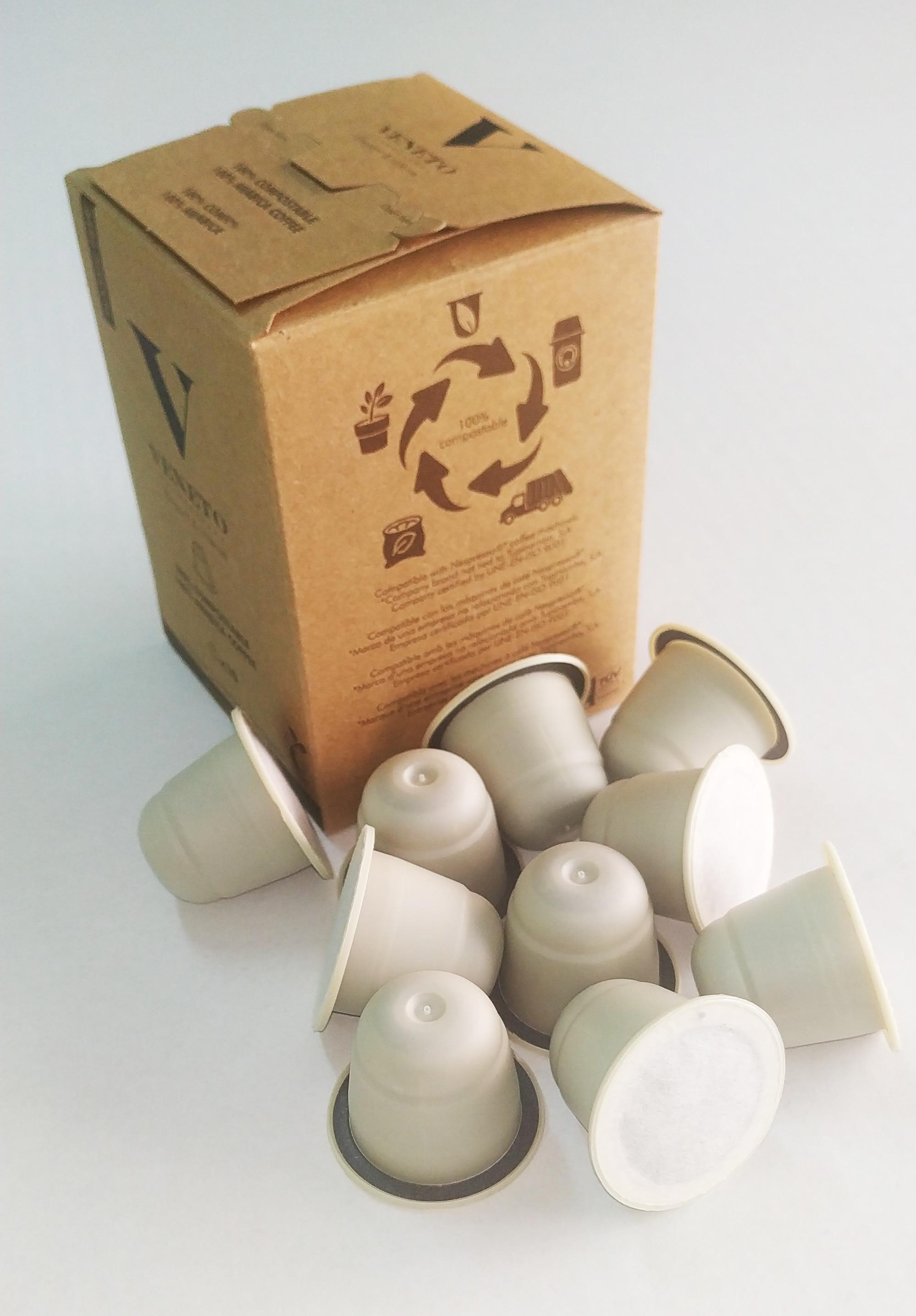 Environmentally friendly VENETO coffee capsules compatible with Nespresso coffee machines®️