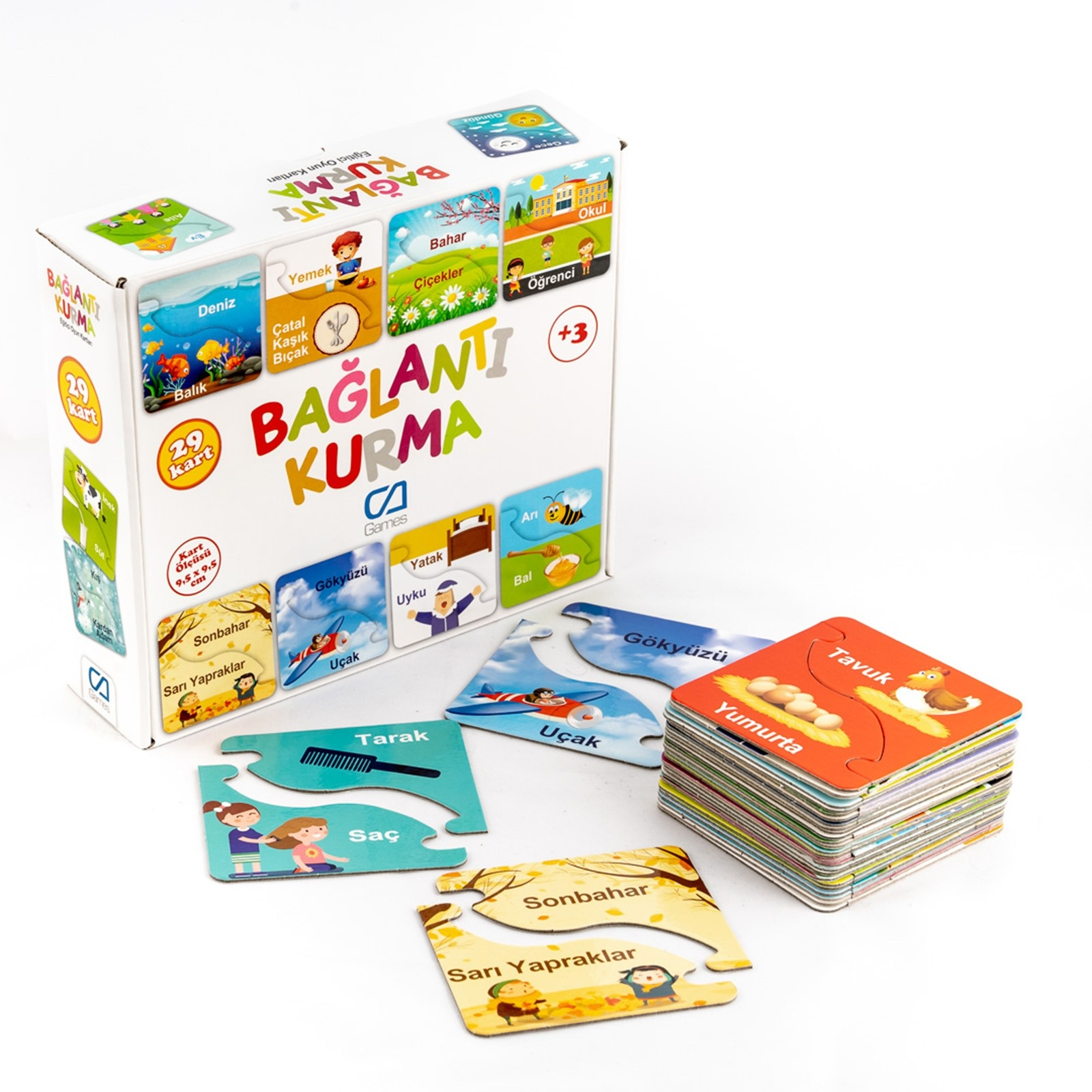 Ebebek Ca Games Link Building Educational Cards 29 Pcs 3 Years+