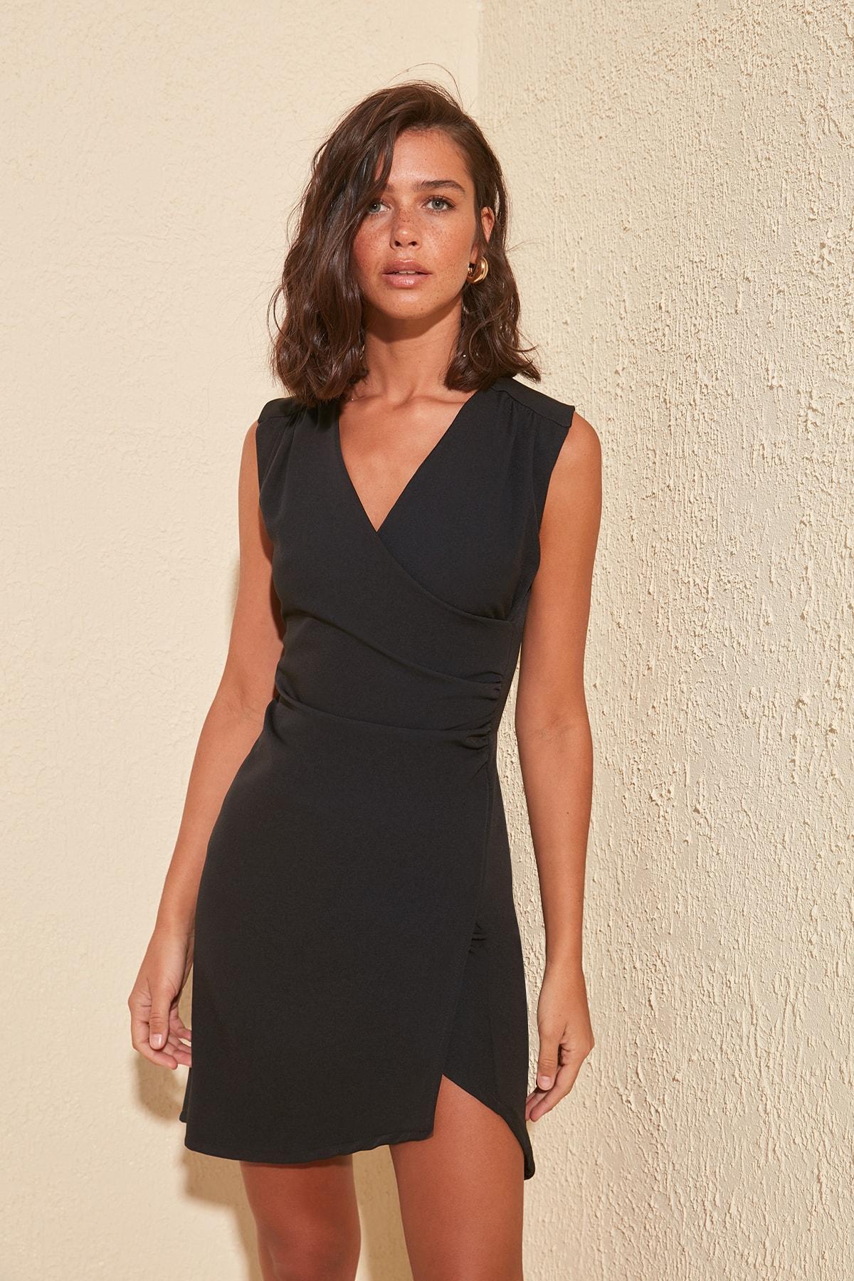 Trendyol Double Breasted Collar Dress TWOSS20EL0629