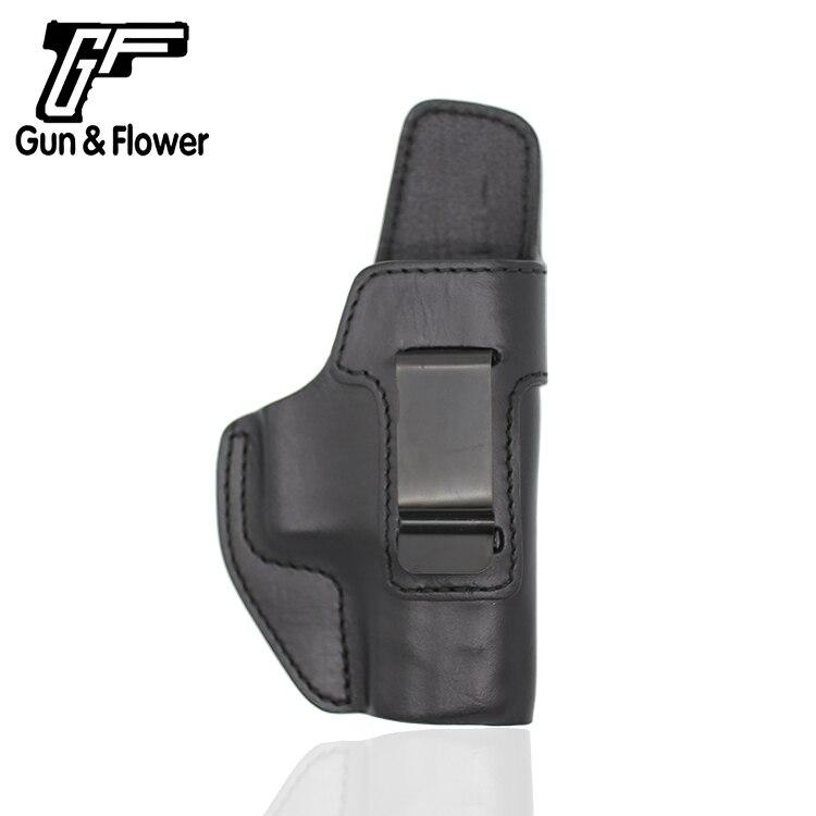 Coldre de Couro Preto com Clipe de Aço para Beretta Gunflower Direita Dentro Calças Clip-on Ocultação Apx Iwb Mão