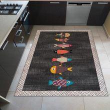 Karnaval Home Balıklı Mutfak Halısı 80x150cm
