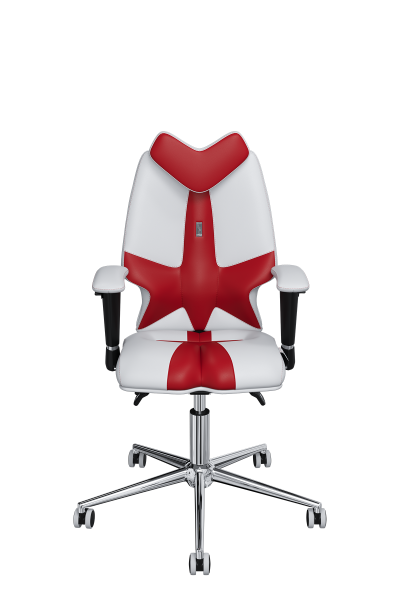 Chair Office KULIK SYSTEM KIDS White And Red For Children And Teenagers Computer Эргономичное 5 Zones Control Spine