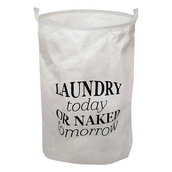 Ev ve Bahçe'ten Katlanabilir Depolama Çantaları'de Çamaşır sepeti beyaz 111089 title=
