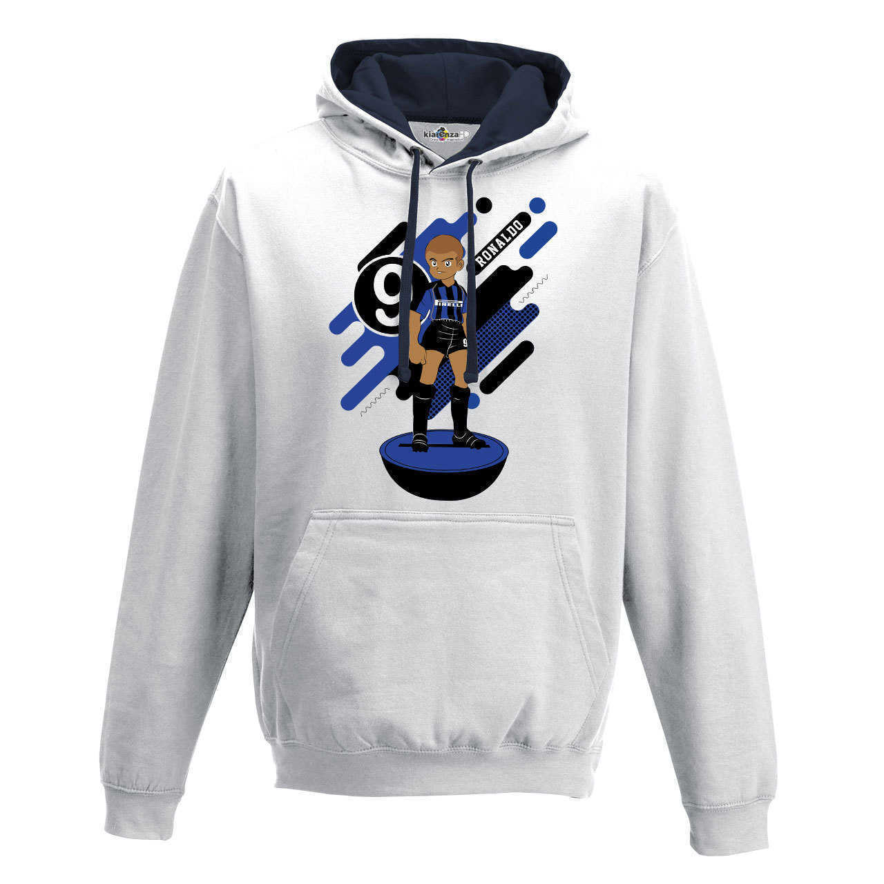 Hood Sweatshirt Bico <font><b>Soccer</b></font> Manga Ronaldo <font><b>Inter</b></font> <font><b>Milan</b></font> Legend Spoof Subbuteo Holly and Benji S image