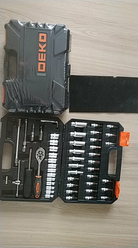 Tool set Deko tz53 (53 PCs) tool case 1/4 professional wrench with heads set free shipping|Hand Tool Sets|   - AliExpress