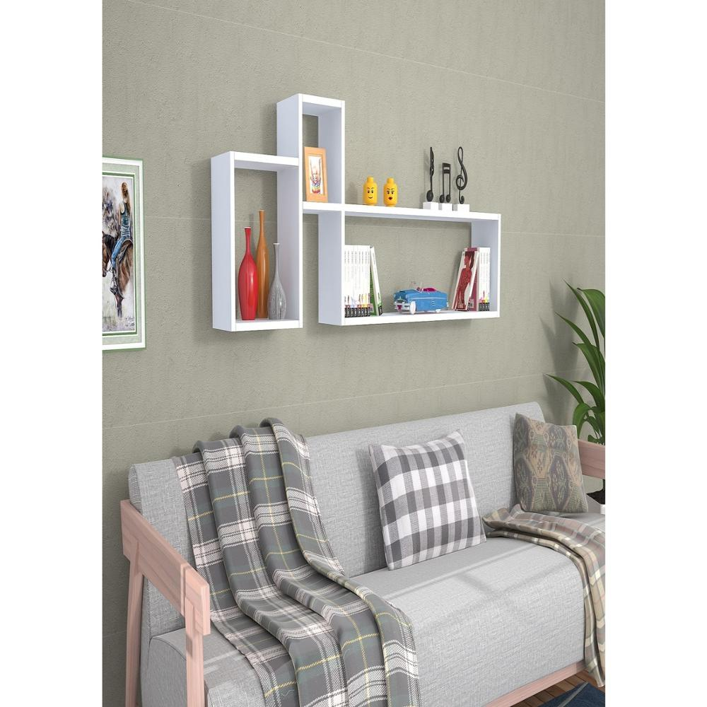Shelf&Shelf MADE IN TURKEY Modern Shelf Color Options Living Room Wood Wall Book Holder Organizer Bookshelf Rack Bookcase