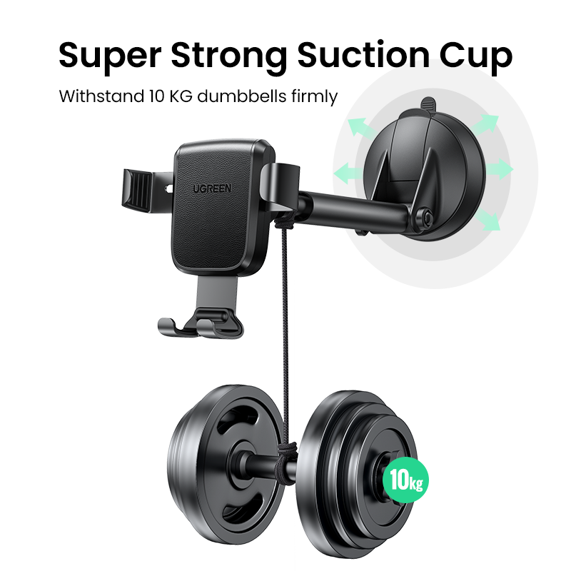 UGREEN Phone Holder Stand In Car Gravity Car Suction Cup Phone Stand for Mobile Phone for iPhone 12 Xiaomi Redmi Samsung Huawei 6