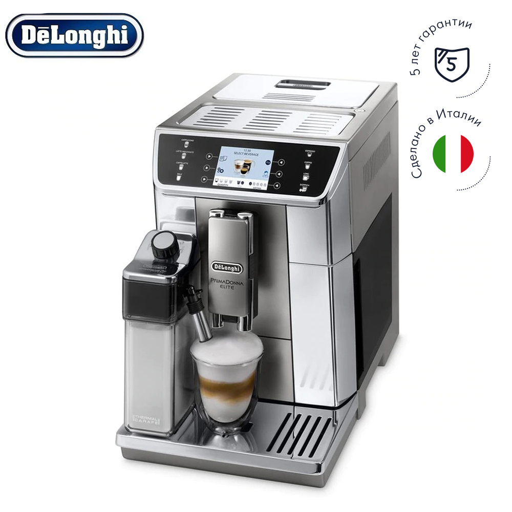 лучшая цена Coffee Machines Delonghi ECAM 650.55.MS Home Kitchen Appliances household automatic preparation of hot drinks