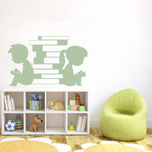Kid's Reading books Wall Sticker Decal Study Sticker Home Room Wall Decoration A00364