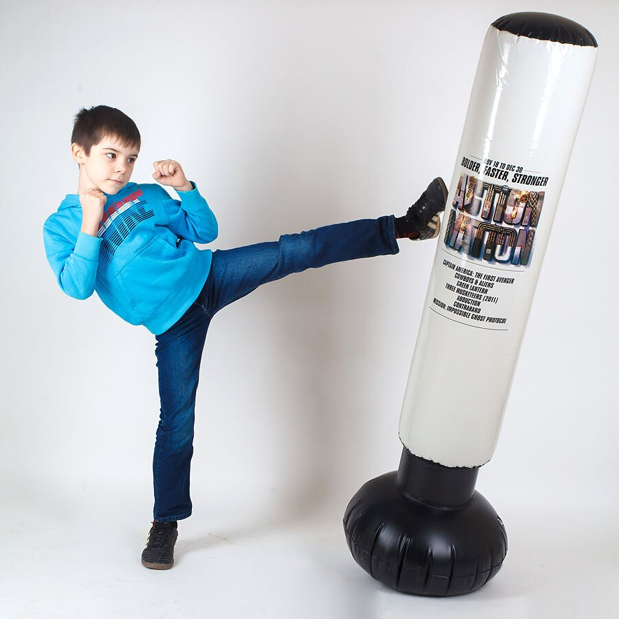 Inflatable Boxing Punching Bag Sport Items Boxing Pear  Taekwondo Karate Muay Thai