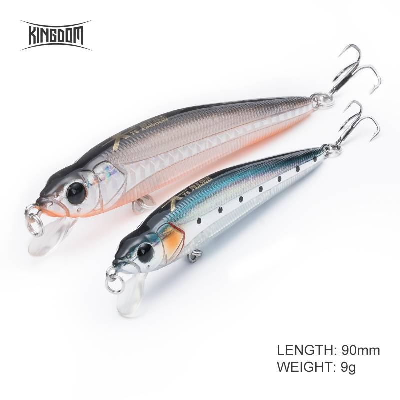 Kingdom 90mm 9g Fishing Hard Lure Floating Minnow Movable Lips Jerkbait New Design Fishing Tackle Artificial Wobblers Model 5339