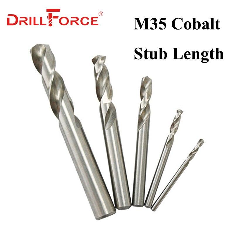 10PCS 3mm-13mm M35 HSSCO Cobalt Stub Length Machine Screw Drill Bits HSS Twist Stubby Drill Bit(3/3.5/4/5/6/7/8/9/10/11/12/13mm)