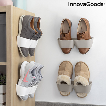 Adhesive Shoe Holders Shöelf InnovaGoods (4 Pairs)