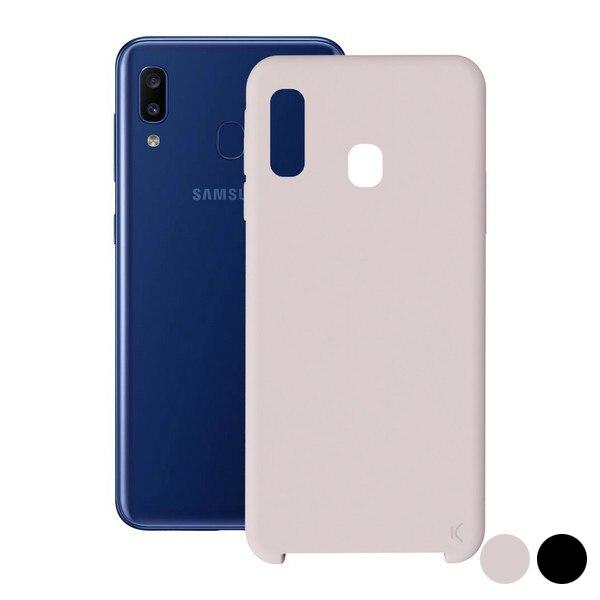 Cep kapak Samsung Galaxy A20 KSIX yumuşak title=