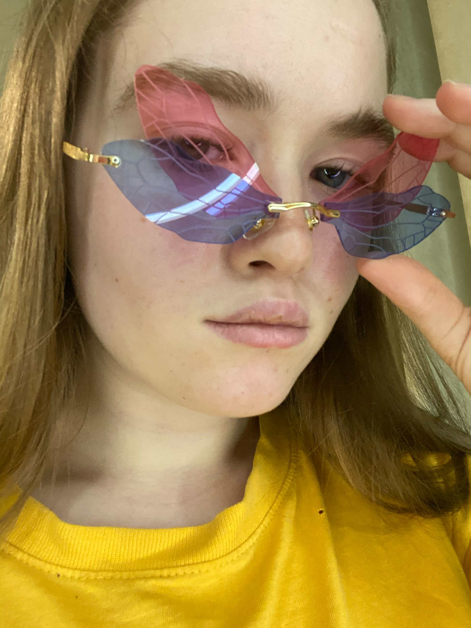 Rimless Dragonfly Wing Sunglasses photo review