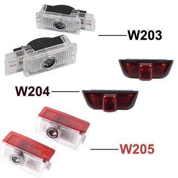 2 uds LED COCHE luz de la puerta para Mercedes-Benz Clase C W203 W204 W205 C180 C200 C240 C230 C300 C270 C280 C350 C320 AMG 4MATIC