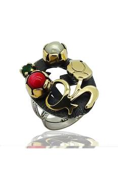 Silver Natural Stone Women Ring