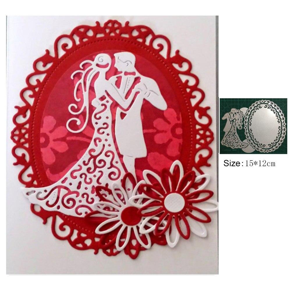 MARIAGE COUPLE métal découpe scrapbooking gaufrage meurt Stencil