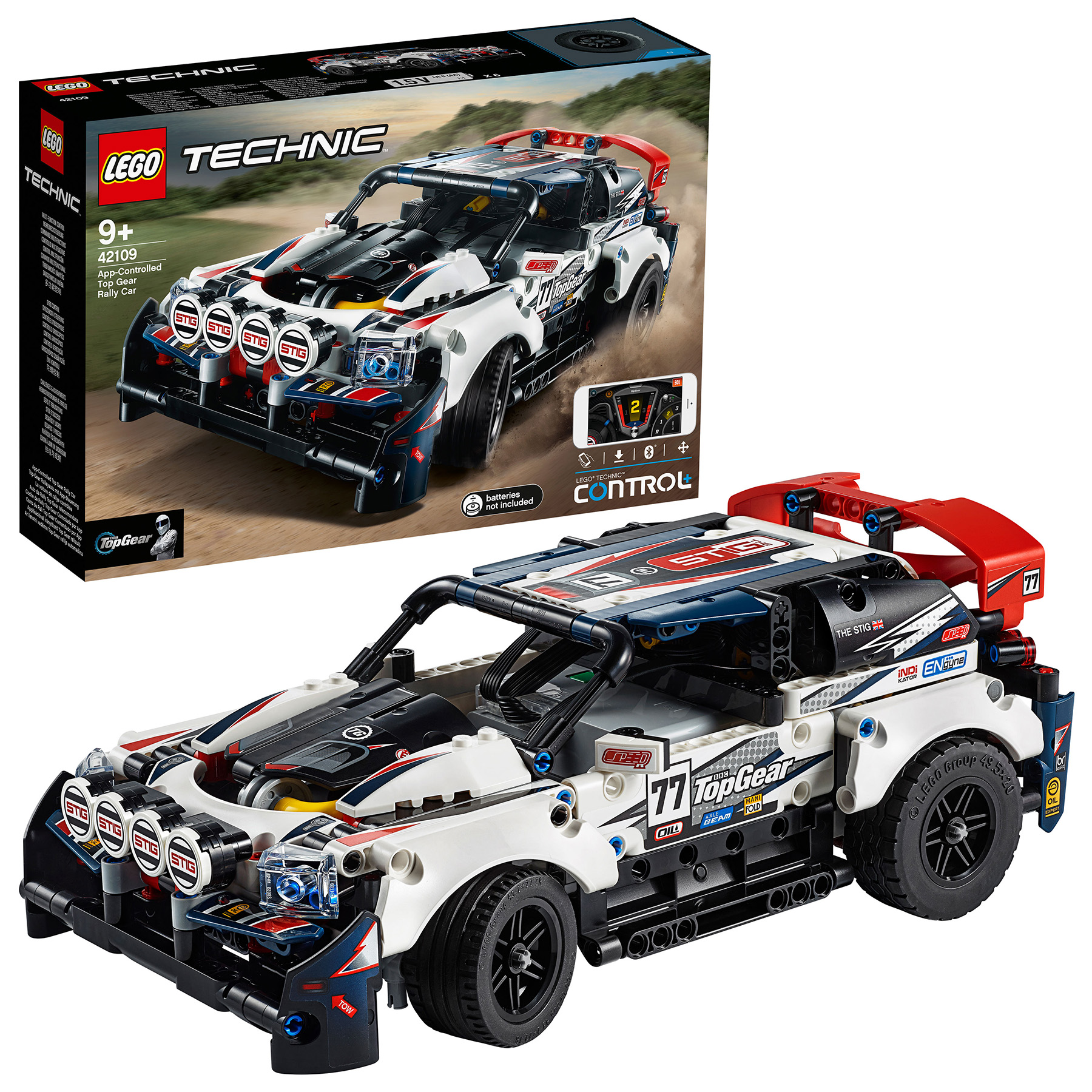 Designer Lego Technic 42109 Racing Car Top Gear On Management