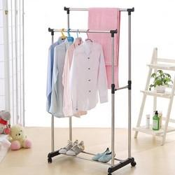 standing clothes rack floor rack extending and mobile muiltifunctional rack on wheels stainless steel