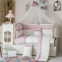 100% FAMOUS TURKISH COTTON QUALITY Baby Queen Made in Turkey Infant Luxury Baby Crib Bedding FULL Bed Set 10 pcs bumper included
