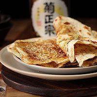 #太太乐鲜鸡汁芝麻香油#湖北大悟县特色小吃,香葱鲜肉薄饼的做法图解12