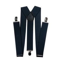 Suspenders for trousers wide (3.5 cm, 3 clips, dark gray) 54866