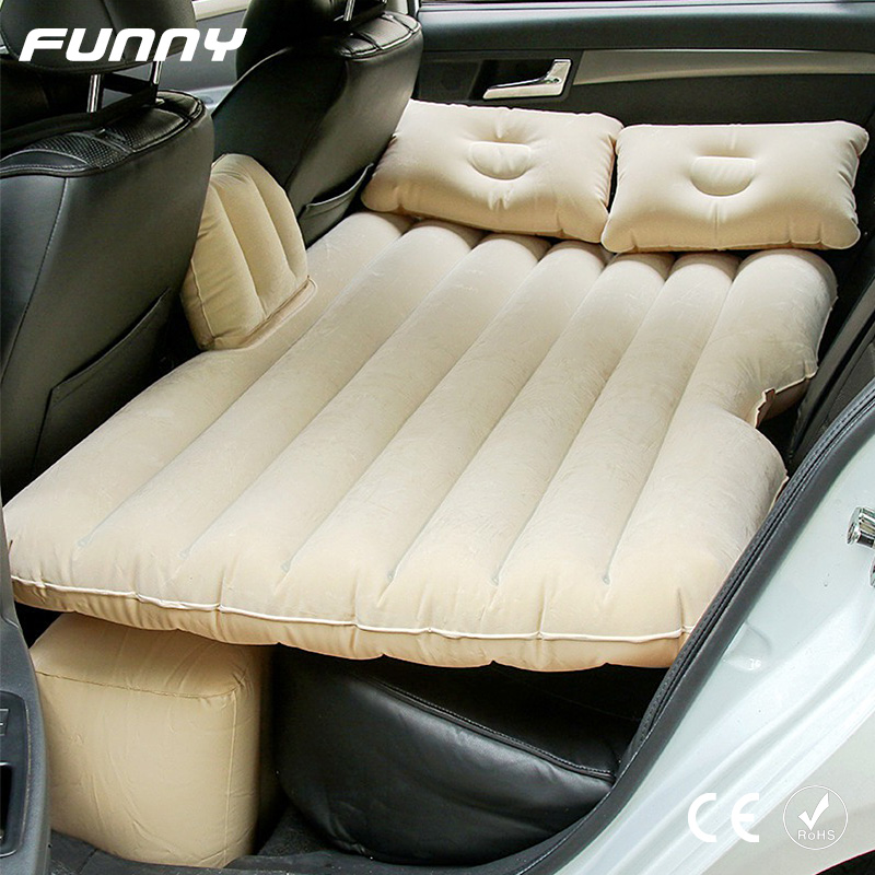 Car Travel Bed Multifunctional Inflatable Mattress Camping Inflatable Sofa With Pump Automotive Air Mattress Rear Rest Cushion