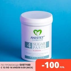 Шугаринг Сахарная Паста для депиляции, ANESTET плотная 4, 330 г, лучше, чем воск и крем для удаления волос