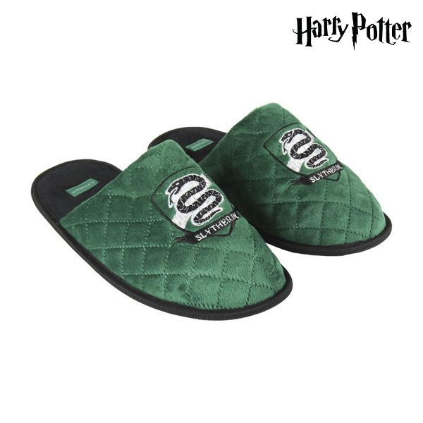 House Slippers Harry Potter Green