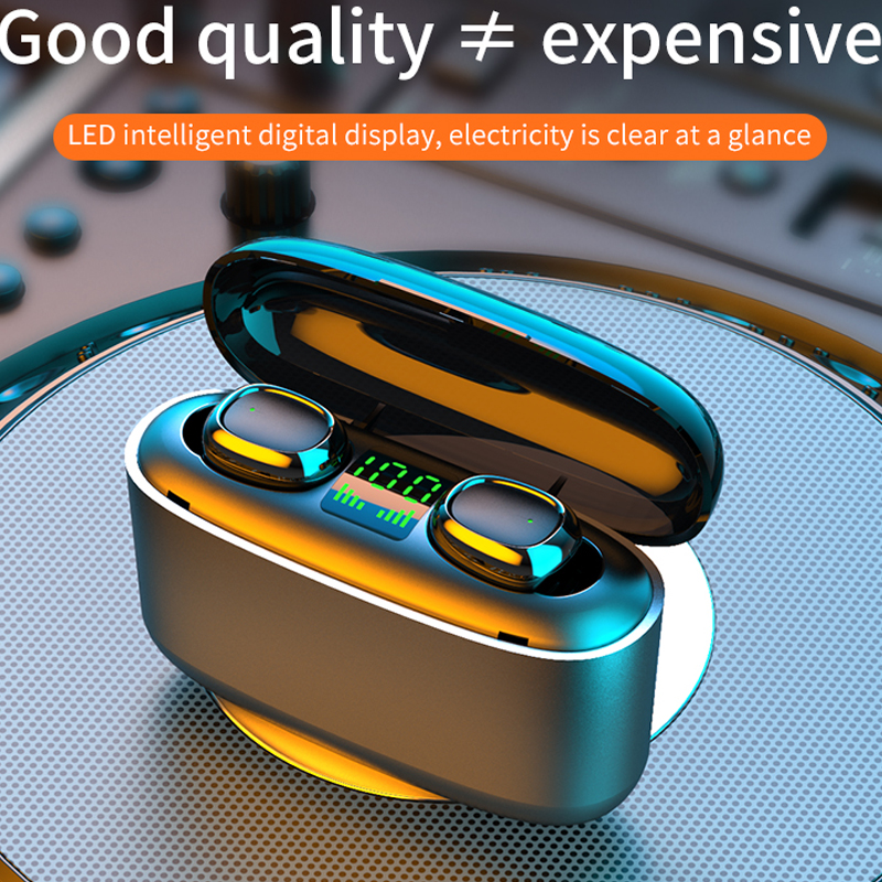 2020 NEW 3500mah LED Bluetooth Wireless Earphones Headphones Earbuds TWS Touch Control Sport Headset Noise Cancel Waterproof