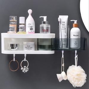 Image 2 - Corner Wall Mounted Bathroom Shelf Shampoo Cosmetic Storage Rack Kitchen Shelf Organizer Household Items Bathroom Accessories