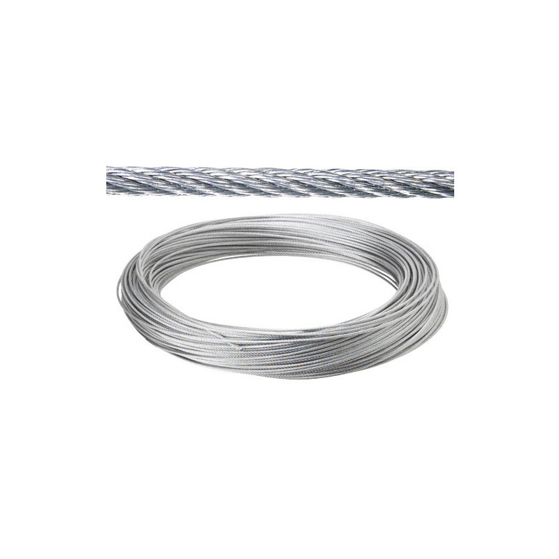 Galvanized Cable 2mm. (Roll 25 Meters) Not Lift