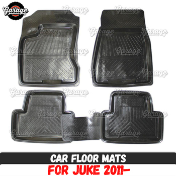 Car floor mats for case for Nissan Juke 2011- rubber 1 set / 4 pcs or 2 pcs accessories protect of carpet decoration image