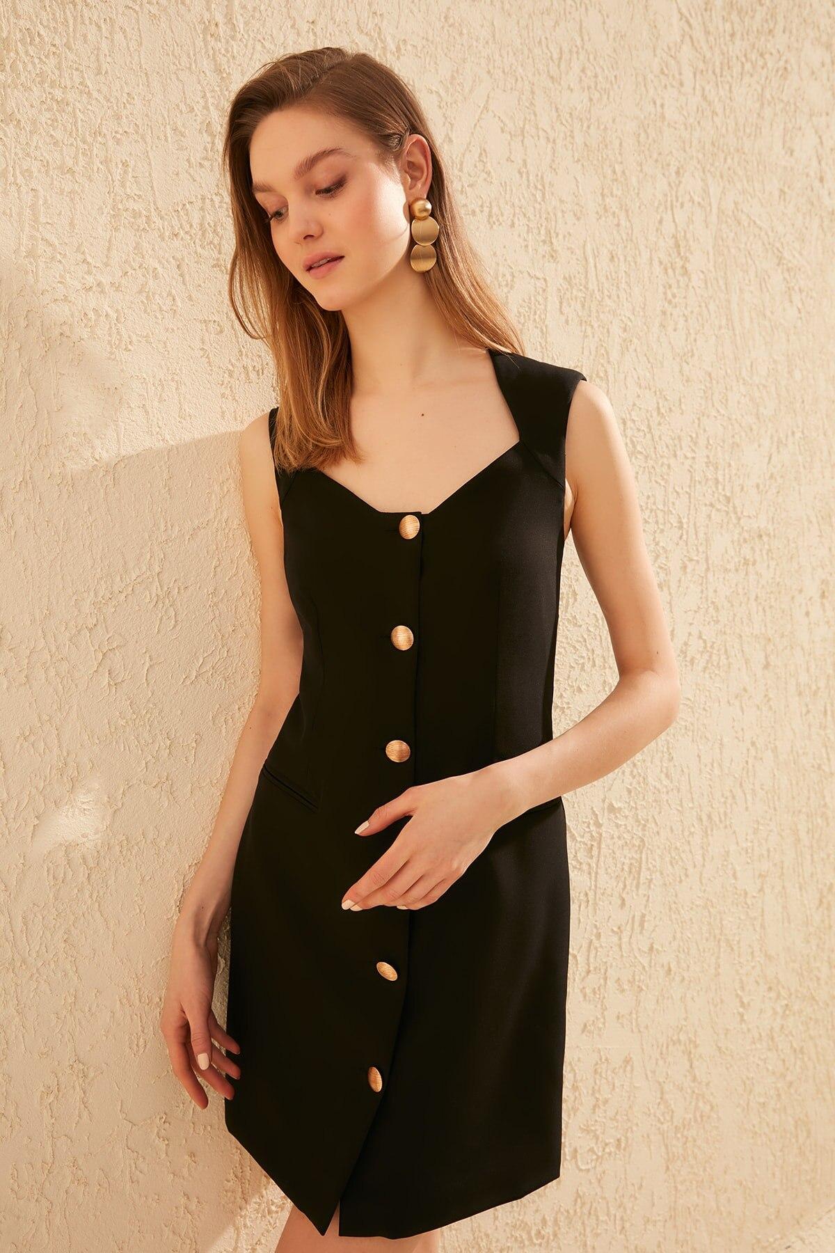 Trendyol Button Dress TWOSS20EL0415