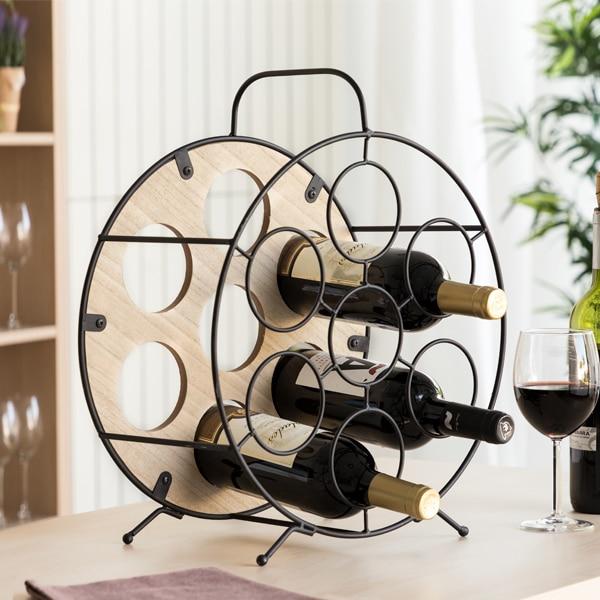 Round Bottle Rack Oenology (7 Bottles)