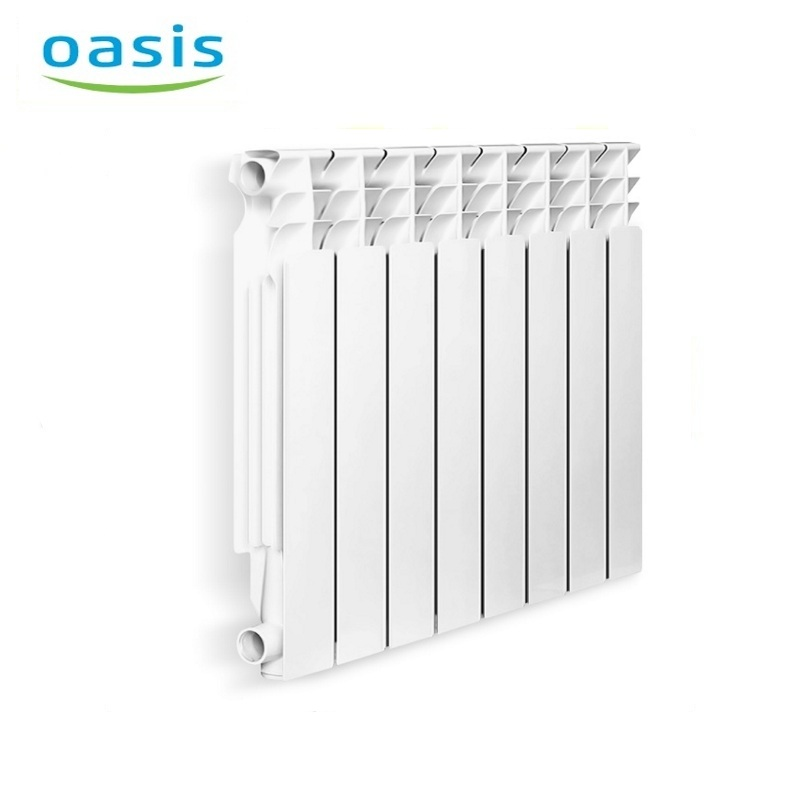 004 Radiator aluminum cast Oasis 500/80/8  air heater heating elements household radiator home energy saving 004 bimetal radiator oasis 500 80 6 electric heater air heater heating elements household radiator home energy saving