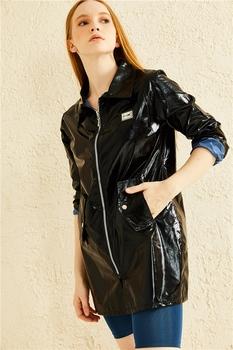 Skórzany płaszcz przeciwdeszczowy płaszcz przeciwdeszczowy damski дождевик женский płaszcz przeciwdeszczowy płaszcz przeciwdeszczowy damski плащ kurtka przeciwdeszczowa nieprzepuszczalny женский плащ tanie i dobre opinie miyaka TR (pochodzenie) Płaszcze