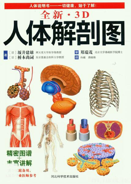 《全新·3D人体解剖图》封面图片