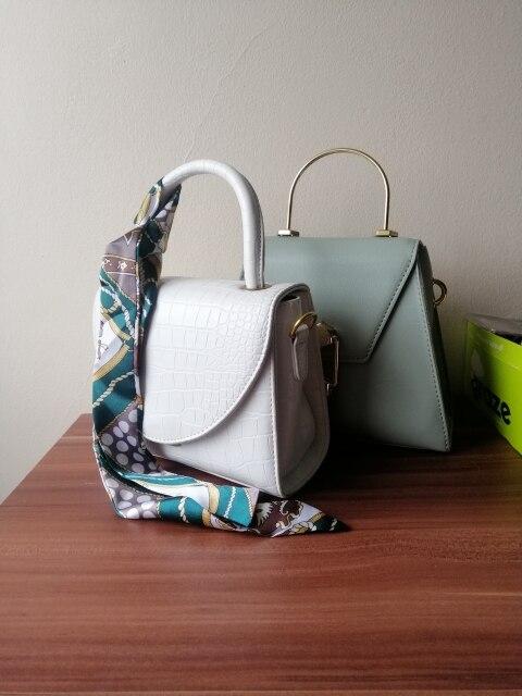 Crocodile Pattern Vegan Leather Crossbody Bag