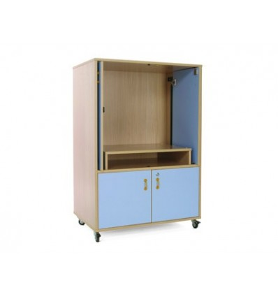 WOOD FURNITURE MOBEDUC TELEVISION AND VIDEO BEECH/WHITE 90X134X60 CM