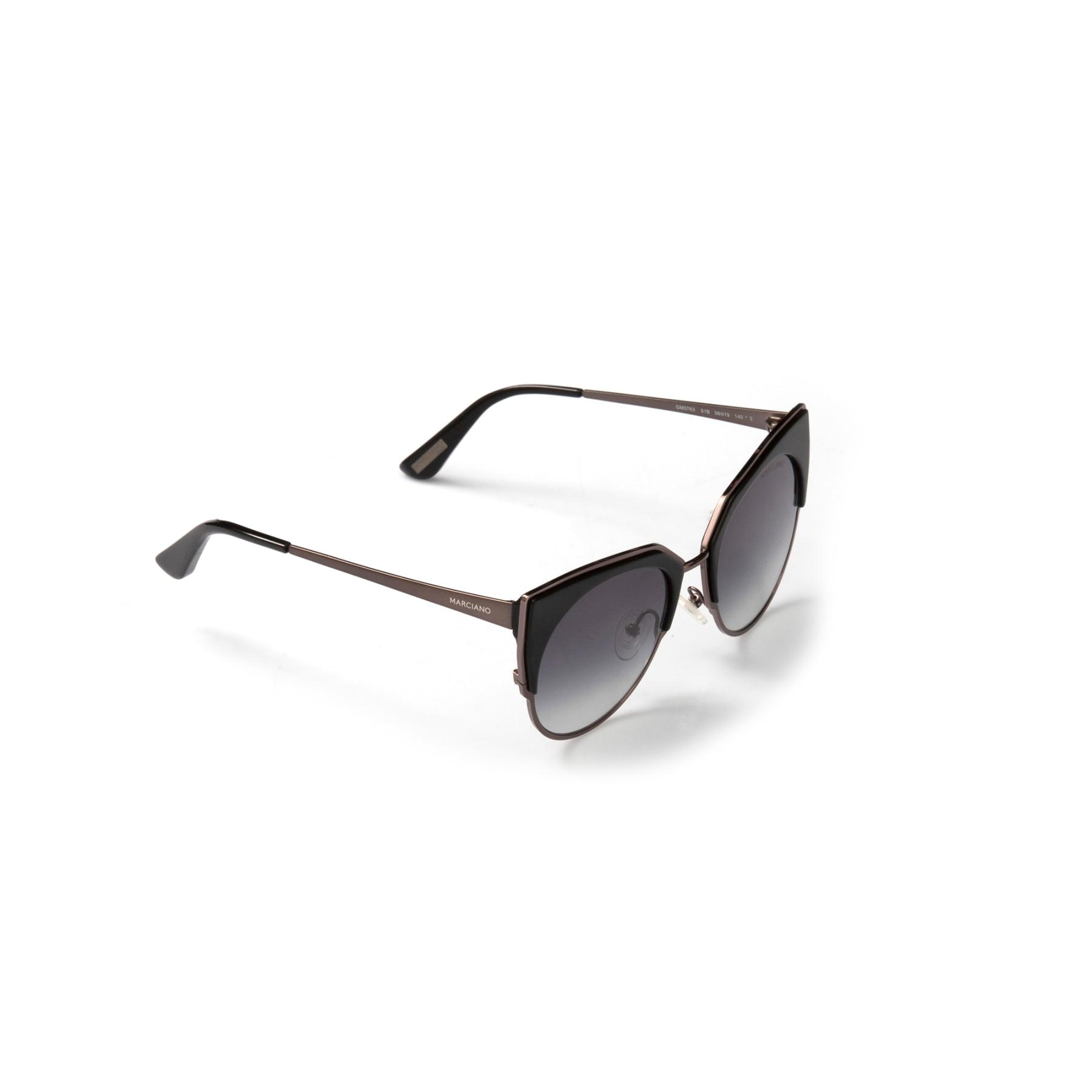 Women's sunglasses gm 0763 01b clubmaster black organic butterfly cat eye 56-19-140 guess by marcaino