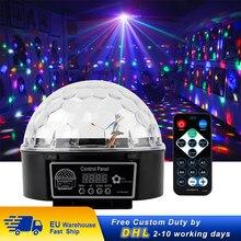 Luz LED para discoteca, iluminación de escenario con efectos, Control de música, fiesta de Navidad, DJ, Karaoke, lámpara de decoración de coche, bola mágica, luz colorida