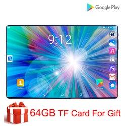 Супер закаленное 2.5D экран 10 дюймов планшетный ПК Android 9,0 Восьмиядерный 6 ГБ ОЗУ 128 Гб ПЗУ 8 ядер планшет + 64 Гб карта памяти подарок