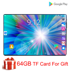 Super Gehard 2.5D Screen 10 Inch Tablet Pc Android 9.0 Octa Core 6 Gb Ram 128 Gb Rom 8 Cores tablet + 64 Gb Geheugenkaart Gift